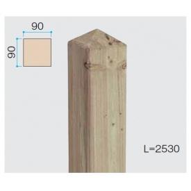 『欠品中』タカショー e-ウッド柱 H18用 『木調フェンス 柵』 無塗装(少し緑がかった色です)
