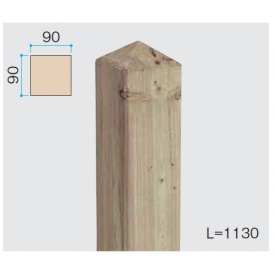 『欠品中』タカショー e-ウッド柱 H8用 『木調フェンス 柵』 別注塗装済み(ホワイト以外)