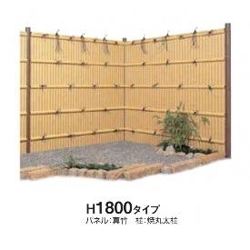 タカショー e-バンブーユニット 建仁寺垣 H1800 パネル (片面) *柱は別売です 『竹垣フェンス 柵』 真 竹