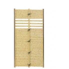 タカショー e-バンブーユニット こだわり竹アート竹垣 中窓 H1800 パネル *柱は別売です 『竹垣フェンス 柵』 こだわり竹イエロー