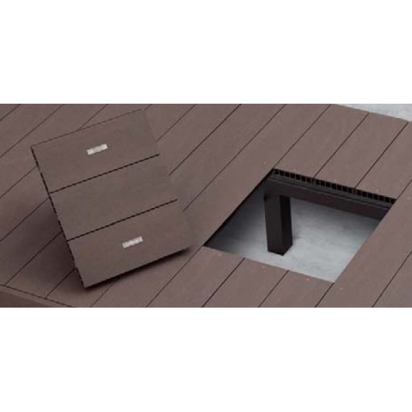 YKKAP リウッドデッキ200用 点検口 大引追加Tタイプ ウッドデッキ オプション 部材 材料 人工木 樹脂 diy