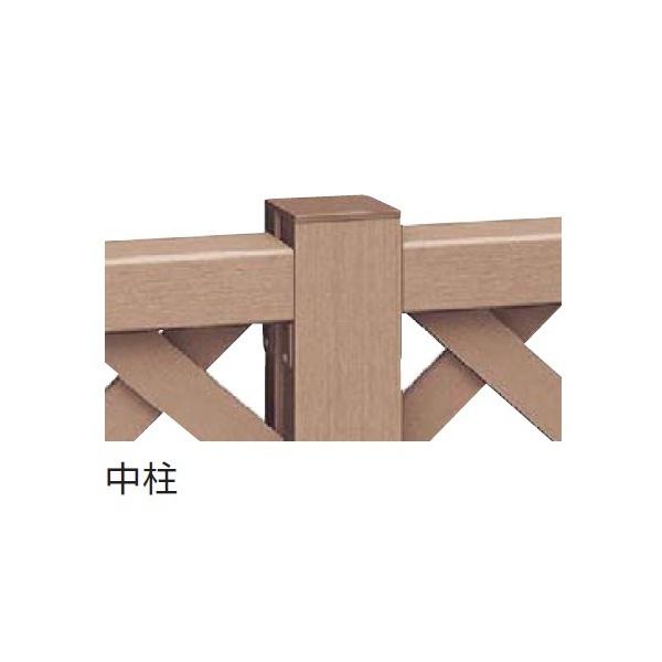 YKKAP リウッドデッキ200 リウッドデッキフェンス 中柱 T120(1・2型共通) ウッドデッキ フェンス パネル 人工木 樹脂 diy