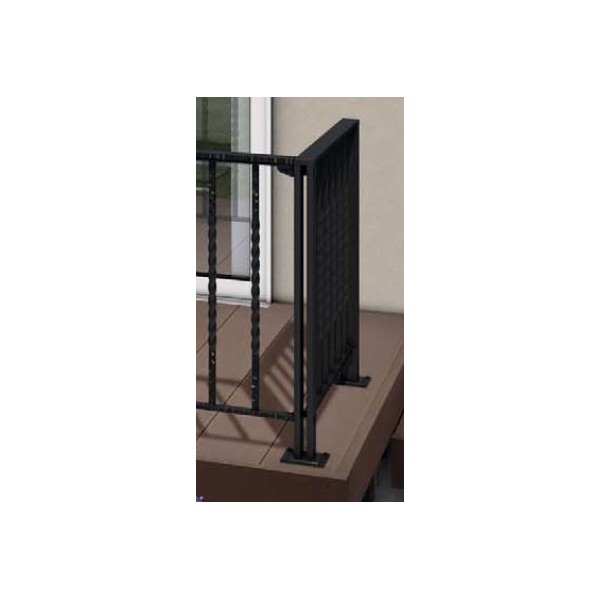 YKKAP リウッドデッキ200 シャローネデッキフェンス1型用 90°専用角柱 T80 ウッドデッキ フェンス パネル 鋳物 人工木 樹脂 diy カームブラック
