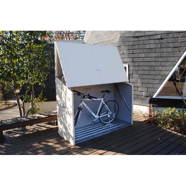 自転車置き場 ガーデナップ 自転車倉庫 TM3 TM3CR 『家庭用 サイクルポート 物置型 おしゃれ』 クリーム