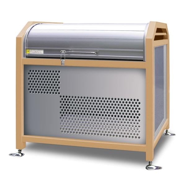 アルミック ミックストッカー 1200タイプ 『ゴミ収集庫』『ダストボックス ゴミステーション 屋外』『ゴミ袋(45L)集積目安 11袋、世帯数目安 5世帯』『完成品で届けるのですぐに使用可能』 アイボリー