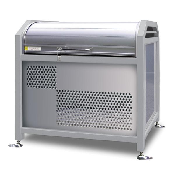 アルミック ミックストッカー 900タイプ 『ゴミ収集庫』『ダストボックス ゴミステーション 屋外』『ゴミ袋(45L)集積目安 8袋、世帯数目安 4世帯』『完成品で届けるのですぐに使用可能』 シルバー