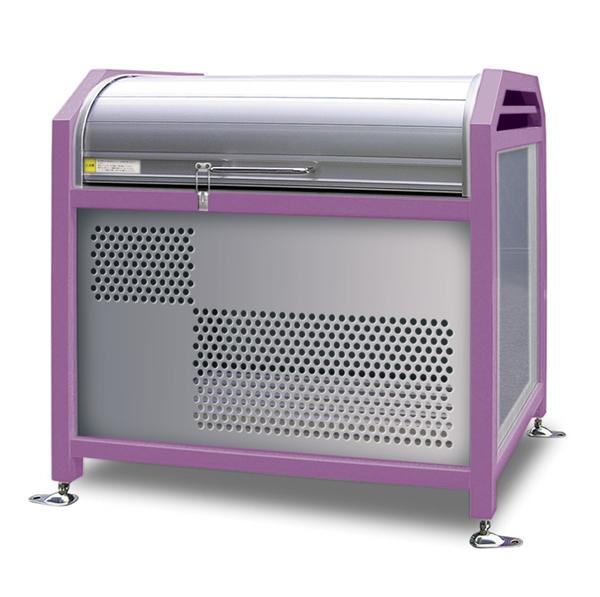 アルミック ミックストッカー 1500タイプ 『ゴミ収集庫』『ダストボックス ゴミステーション 屋外』『ゴミ袋(45L)集積目安 15袋、世帯数目安 8世帯』『完成品で届けるのですぐに使用可能』 ピンク