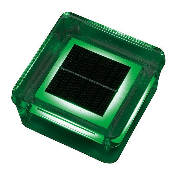 タカショー タイルドライトソーラー HCC-001G *別途ベースが必要になります 『エクステリア照明 ライト』 緑
