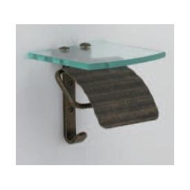 オンリーワン 真鍮水まわりアクセサリー スタンダード真鍮古色調仕上げ TPH ガラスシェルフS AN GI4-640803