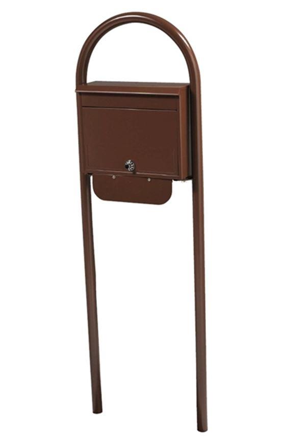KGY セレクトカラーポストSG-5000 + アーチスタンドセットAS-1 『ケイ・ジー・ワイ 郵便ポスト』 チョコレート