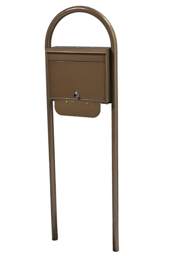 KGY セレクトカラーポストSG-5000 + アーチスタンドセットAS-1 『ケイ・ジー・ワイ 郵便ポスト』 ブラウンメタリック