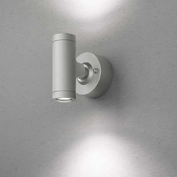 タカショー エクスレッズ スポットウォールライト 2型(LED色:白色)HBA-W07S 12V用 #73032200 『ローボルトライト』 『エクステリア照明 ライト』 シルバー