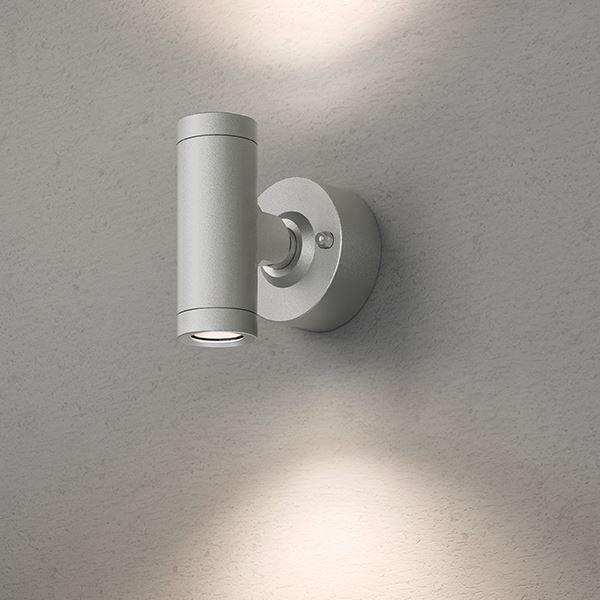 タカショー エクスレッズ スポットウォールライト 2型(LED色:電球色)HBA-D07S 12V用 #73026100 『ローボルトライト』 『エクステリア照明 ライト』 シルバー
