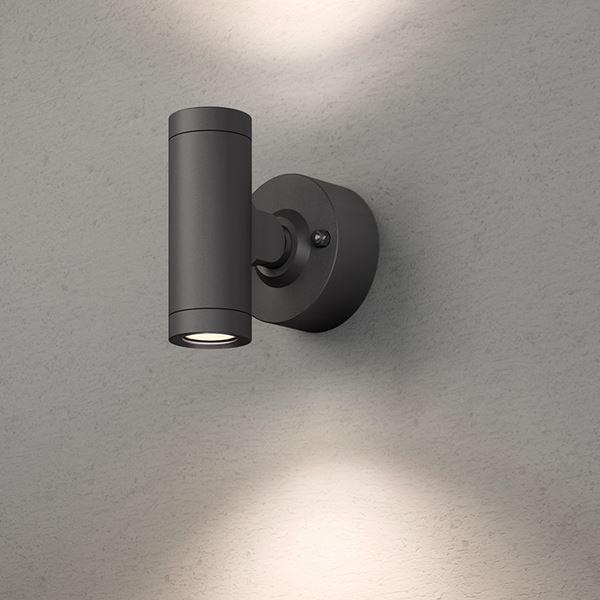 タカショー エクスレッズ スポットウォールライト 2型(LED色:電球色)HBA-D07K 12V用 #73025400 『ローボルトライト』 『エクステリア照明 ライト』 ブラック