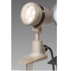 タカショー De-SPOT 調光リング100V 広角(LED色:電球色)10mプラグ無 HFE-D22G 『100V用 スポットライト』 『エクステリア照明 ライト』 グレイッ シュ ゴールド