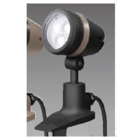 タカショー De-SPOT 調光リング100V 広角(LED色:白色)5mプラグ付 HFE-W17K #49133900 『100V用 スポットライト』 『エクステリア照明 ライト』 ブラック