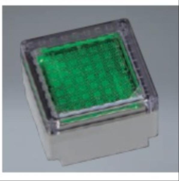 ユニソン ヘリオスグランドライト LEDブロック 100角 『エクステリア照明 ライト』 LED色:緑色