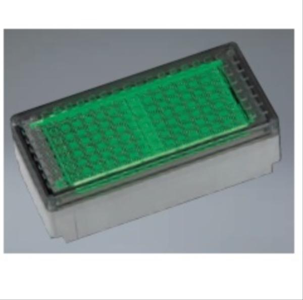 ユニソン ヘリオスグランドライト LEDブロック 200×100(RN) 『エクステリア照明 ライト』 LED色:緑色