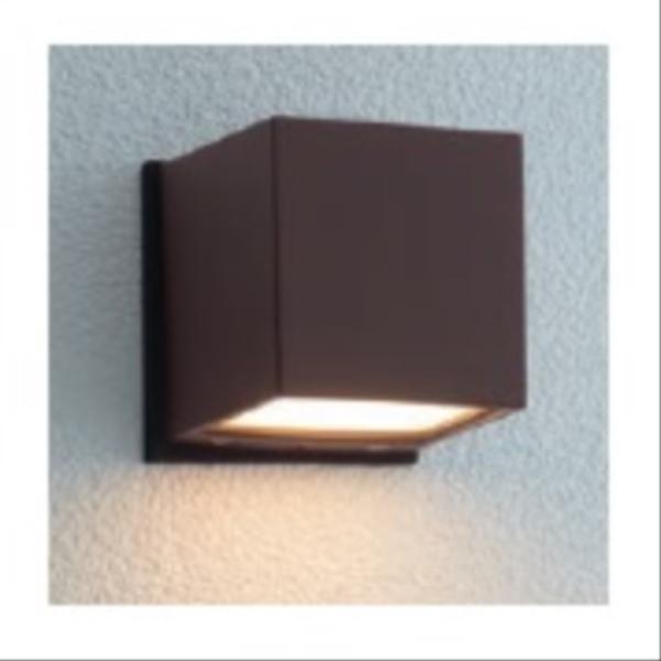 ユニソン エコルトウォールライト EA 01017 52 12V用 LED色:電球色 『エクステリア照明 ローボルトライト』 ラスティブラウン