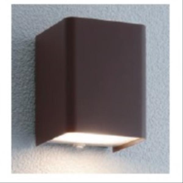 ユニソン エコルトウォールライト EA 01007 52 12V用 LED色:電球色 『エクステリア照明 ローボルトライト』 ラスティブラウン