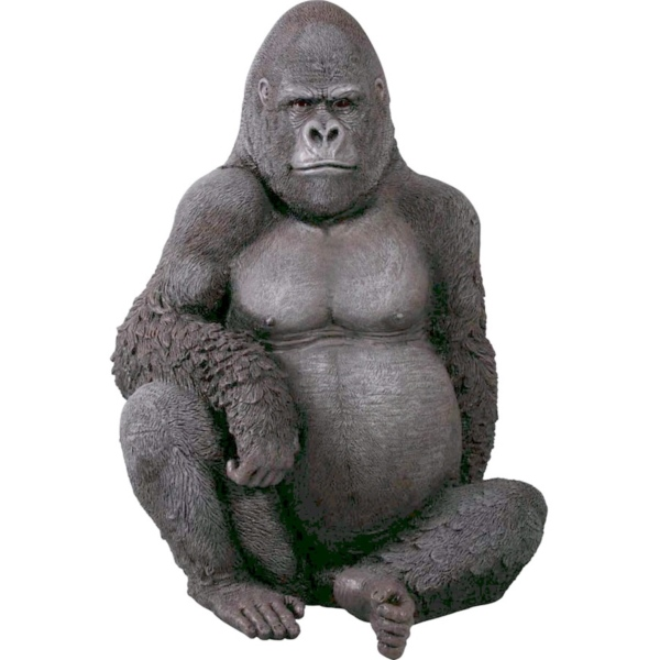FRP 悠然たるゴリラ / Silver Back Gorilla 『動物園オブジェ アニマルオブジェ 店舗・イベント向け』