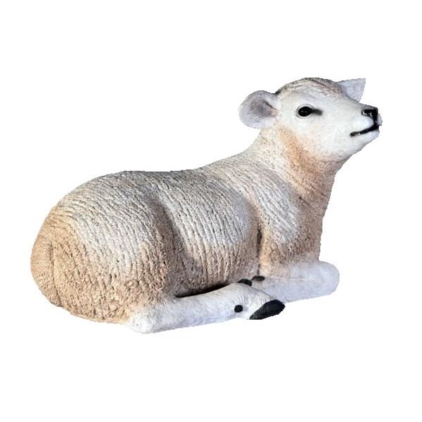 FRP 柔和な子ひつじ / Texelaar LamB Resting 『動物園オブジェ アニマルオブジェ 店舗・イベント向け』