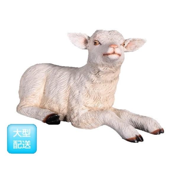FRP 寝そべるヤギの赤ん坊 / Goat-Kid Resting 『動物園オブジェ アニマルオブジェ 店舗・イベント向け』