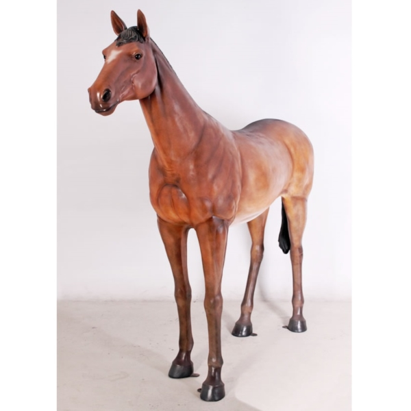 FRP 強壮と立ち振る舞う馬 / Standing Horse - Life Size 『動物園オブジェ アニマルオブジェ 店舗・イベント向け』