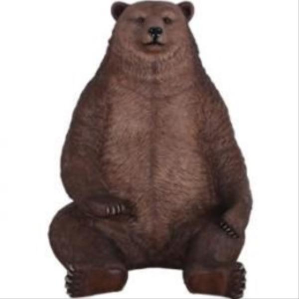 FRP 巨大グリズリー / Sitting Grizzly-JumBo 『動物園オブジェ アニマルオブジェ 店舗・イベント向け』