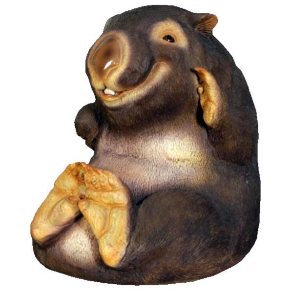 FRP 笑うウォンバット / WomBat Smiling 『動物園オブジェ アニマルオブジェ 店舗・イベント向け』