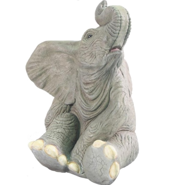 FRP 小象のたわむれ / Sitting BaBy Elephant 『動物園オブジェ アニマルオブジェ 店舗・イベント向け』