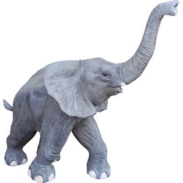 FRP 鼻を高く突き上げる子ゾウ / Walking BaBy Elephant 『動物園オブジェ アニマルオブジェ 店舗・イベント向け』