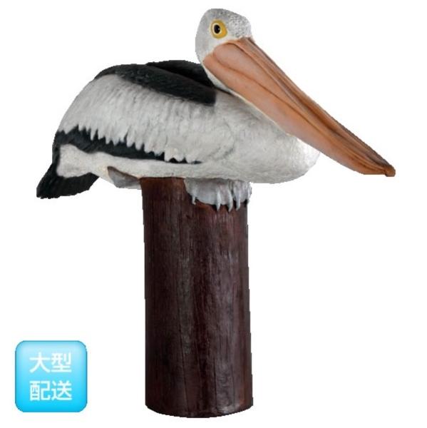 FRP ポストの上のペリカン / Pelican on Post 『動物園オブジェ アニマルオブジェ 店舗・イベント向け』