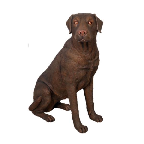 FRP おすわりをするラブラドール(ブラウン) / Sitting LaBrador 『犬オブジェ アニマルオブジェ 店舗・イベント向け』