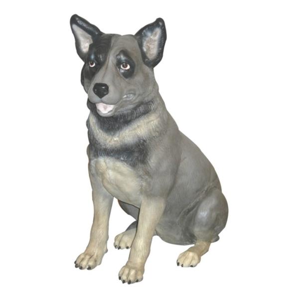 FRP 私におまかせ犬 / Blue Heeler 『犬オブジェ アニマルオブジェ 店舗・イベント向け』