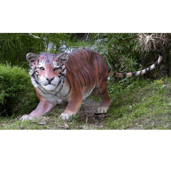 FRP 挑むベンガルタイガー / Bengal Tiger 『動物園オブジェ アニマルオブジェ 店舗・イベント向け』