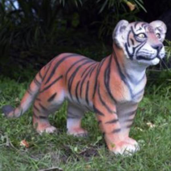 FRP 歩く子タイガー / Tiger CuB - Standing 『動物園オブジェ アニマルオブジェ 店舗・イベント向け』