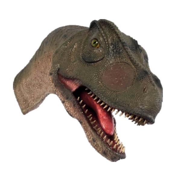 FRP 口を開けるアロサウルスの頭部 / Allosaurus Head-Mouth Open 『恐竜オブジェ 博物館オブジェ 店舗・イベント向け』