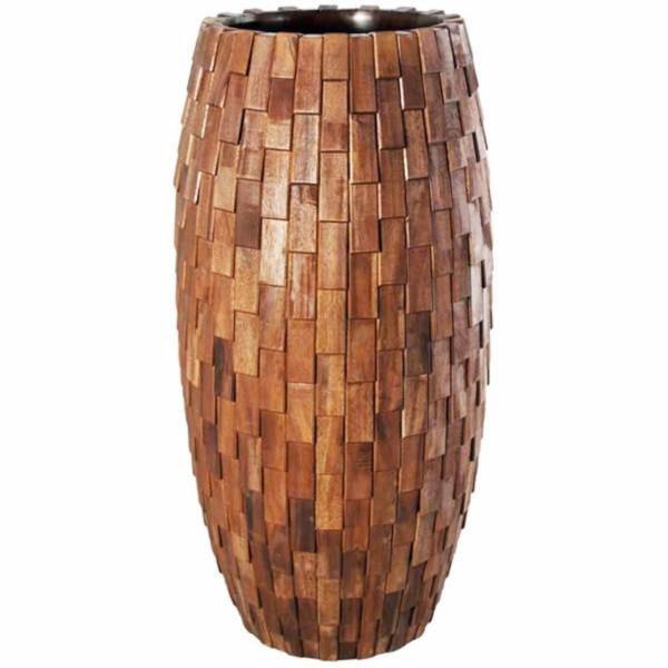 FRP 鼓型プランター(木重柄) / Elonga Planter 47x120cm 『プランター 店舗・イベント向け』