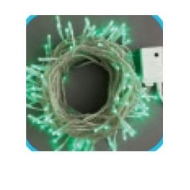 コロナ産業 LEDストレートコード100球(シルバーコード)/連結専用/電源部別売り LSR100G LED色:緑色 『イルミネーションライト』