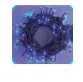 コロナ産業 LEDストレートコード200球(ブラックコード)/コントローラー点滅(8パターン) LPK200B LED色:青色 『イルミネーションライト』