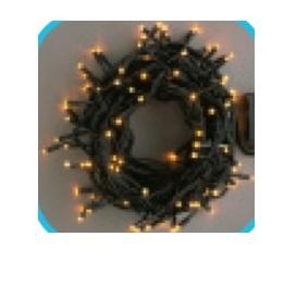 コロナ産業 LEDストレートコード200球(ブラックコード)/コントローラー点滅(8パターン) LWK200Y LED色:黄色 『イルミネーションライト』