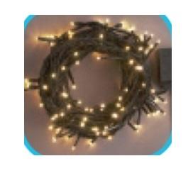 コロナ産業 LEDストレートコード200球(ブラックコード)/連結専用/電源部別売り LNR200D LED色:電球色 『イルミネーションライト』