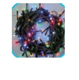 コロナ産業 LEDストレートコード200球(ブラックコード)/連結専用/電源部別売り LPR200M5 LED色:5色ミックス 『イルミネーションライト』