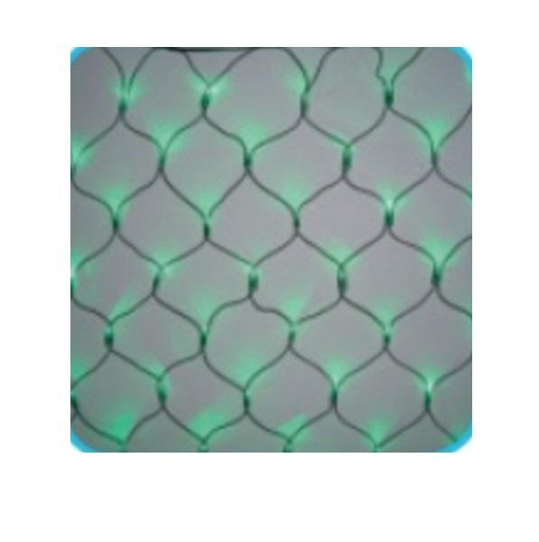 コロナ産業 LED180球ネットライト連結専用/電源部別売り(ブラックコード) LR180G LED色:緑色 『イルミネーションライト』
