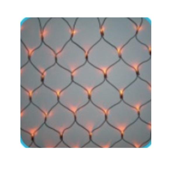 コロナ産業 LED180球ネットライト連結専用/電源部別売り(ブラックコード) LR180Y LED色:黄色 『イルミネーションライト』