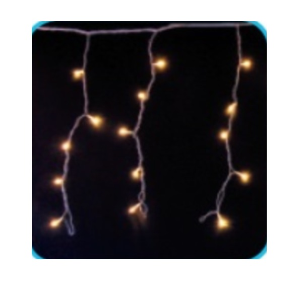 コロナ産業 LED144球カーテンライト(シルバーコード) LPi144SGD LED色:ハニーゴールド色 『イルミネーションライト』