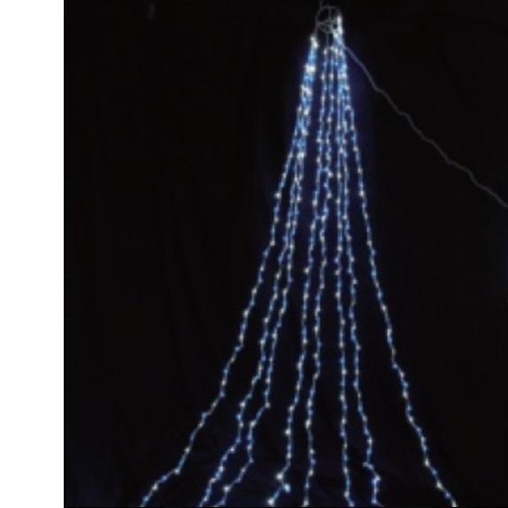 コロナ産業 LED ドレープライト640球/4m(シルバーコード) MDPA4WB LED色:白・青色 『イルミネーションライト』