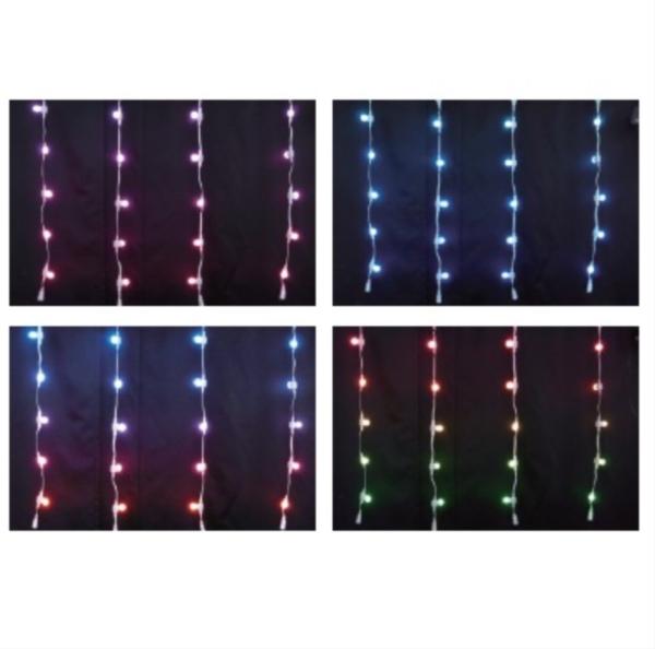 コロナ産業 LED装飾照明 RGB カーテンライト(ホワイトコード20球) DF20RGB LED色:RGB 『イルミネーションライト』