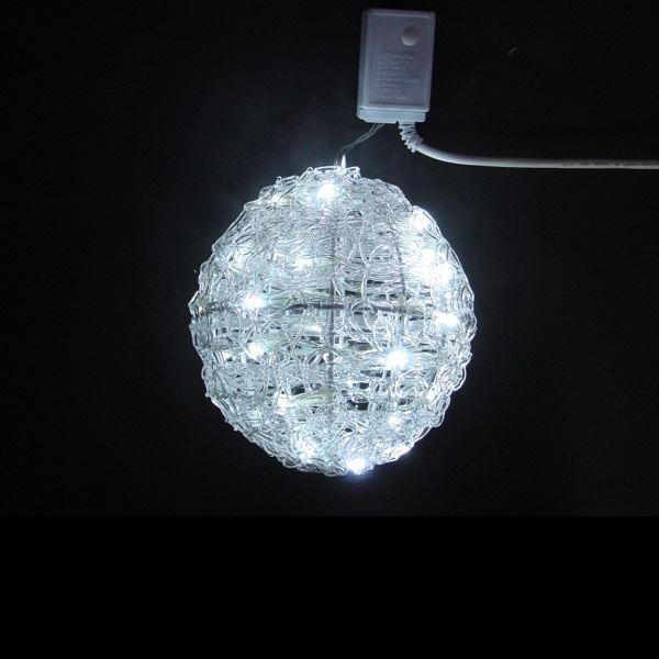 コロナ産業 3Dモチーフ 白色LEDクリスタルボールライト20cm L3D222W 『イルミネーションライト』